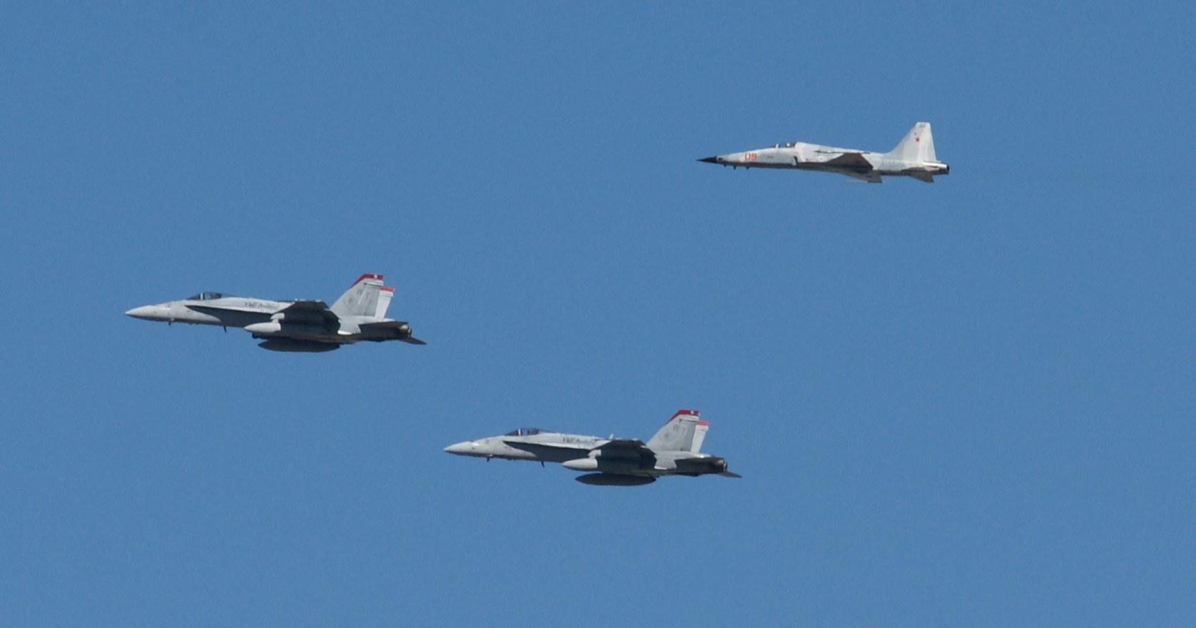 McDonnell Douglas F/A-18 Hornet and Northrop F-5