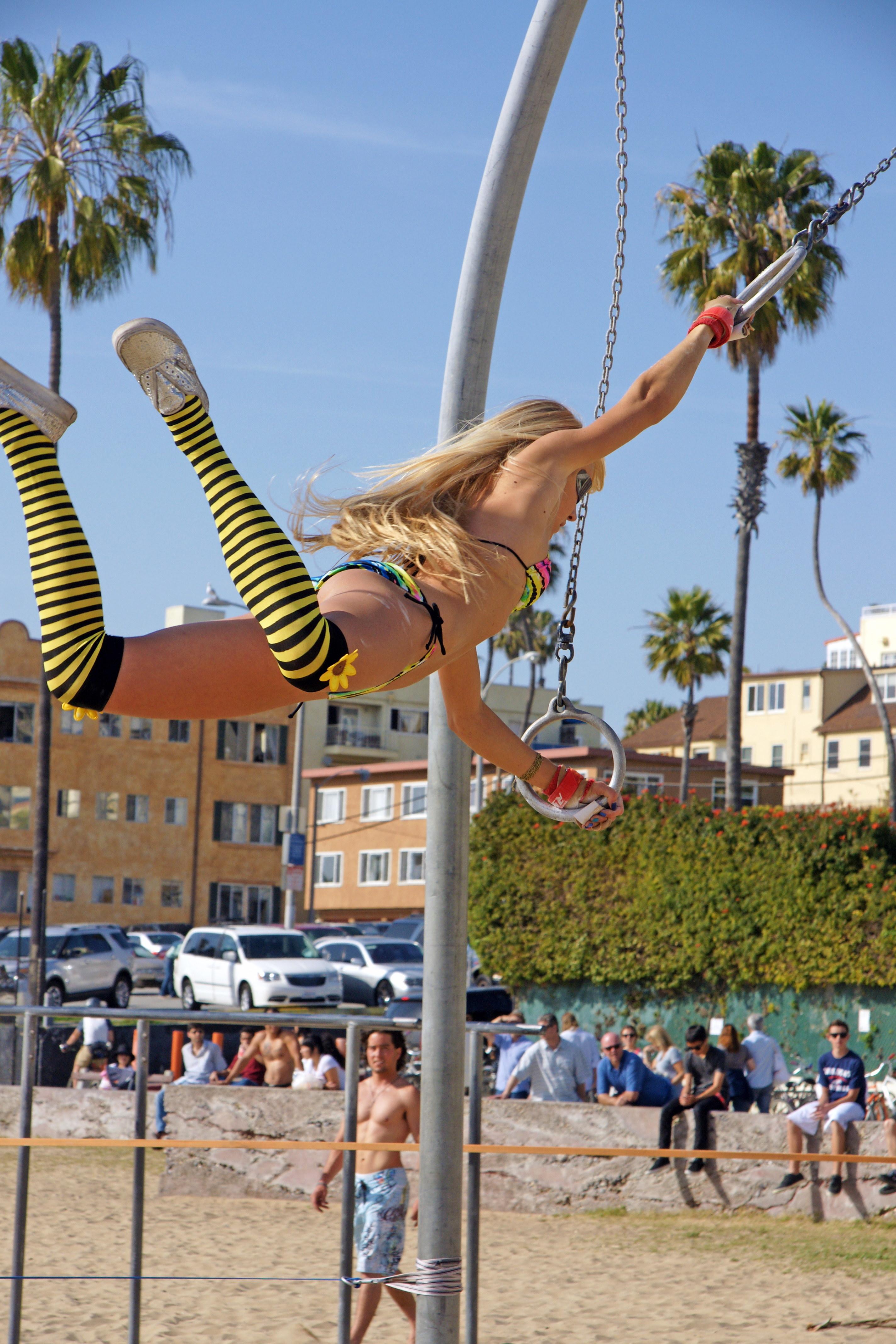 Venice Beach Ring Girl