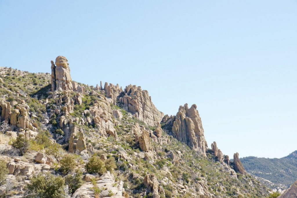 Rock formations along the Byway.