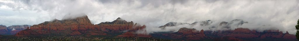 Ominous clouds over Sedona.