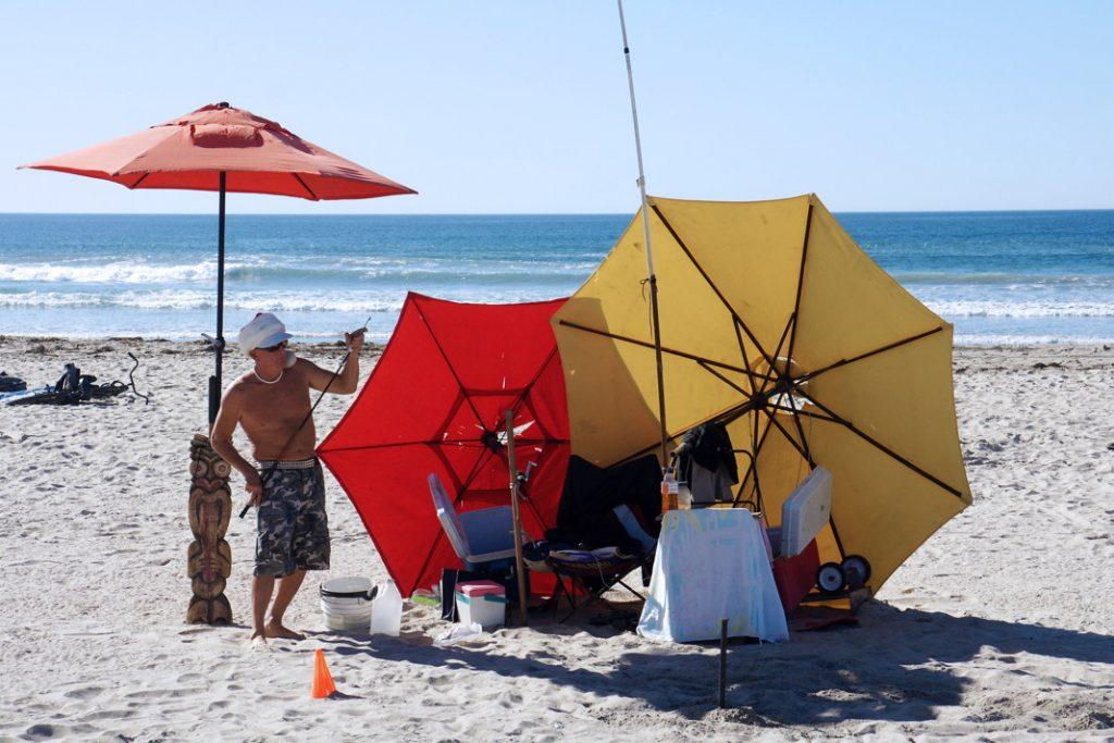 Build an umbrella fort.