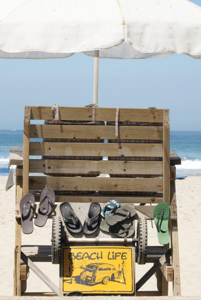 Enjoy beach life.