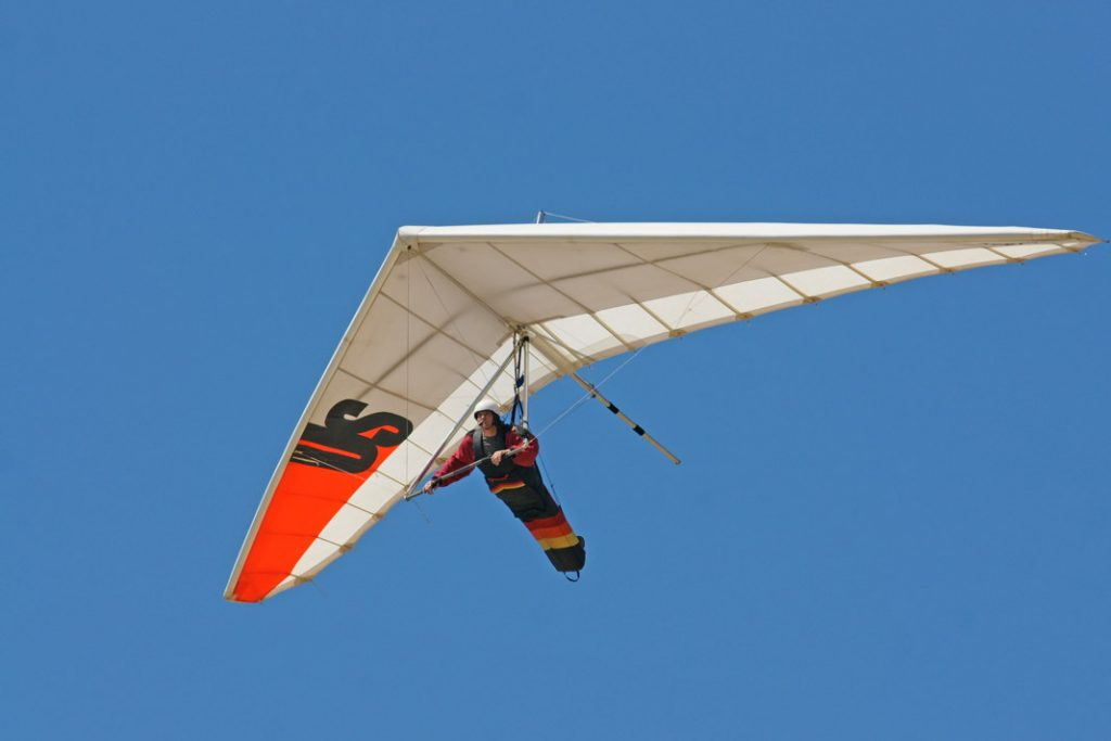 Fly a hang glider.