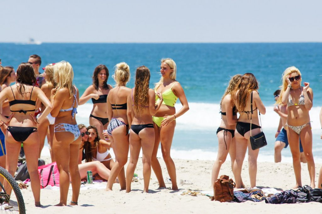 Get all your girlfriends to the beach with you.