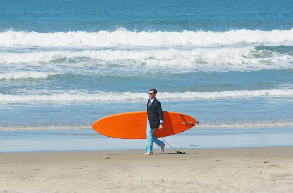 Paddleboard in your suit.