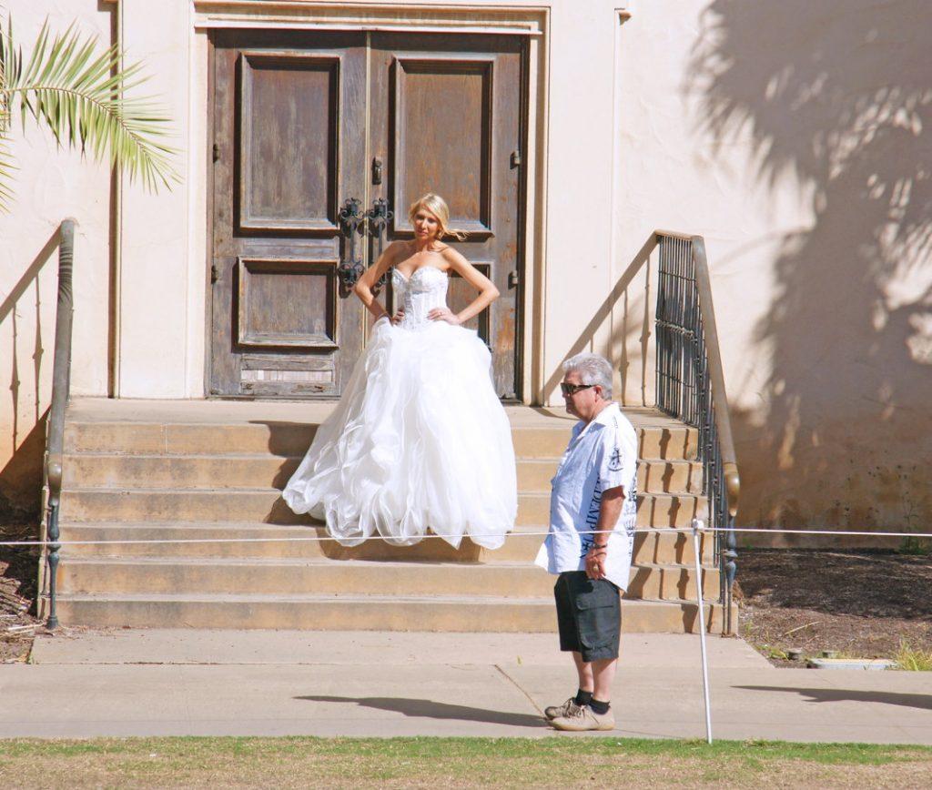 Photobomb a wedding.