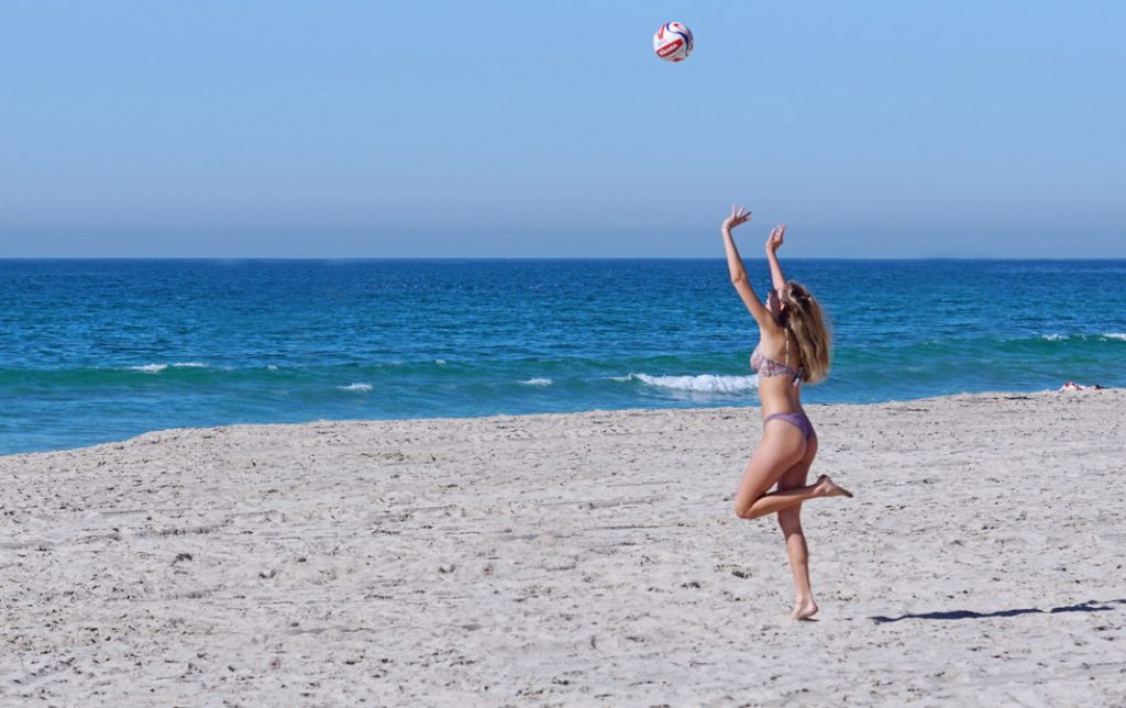 Play volleyball by yourself.