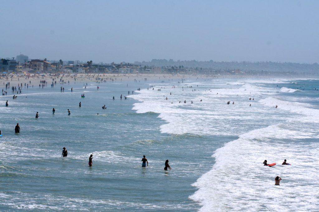 Play in the ocean.