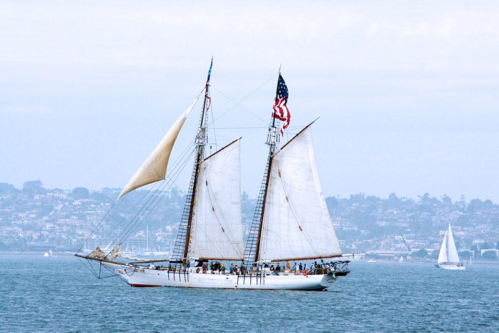 Sail on a schooner.