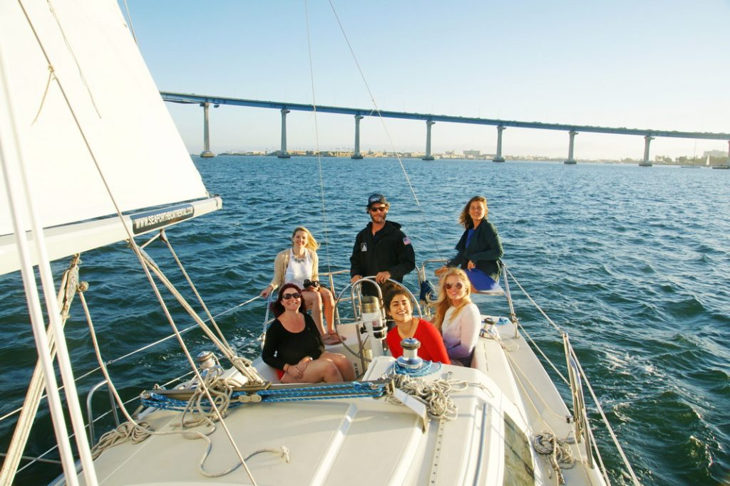 Sail with friends.