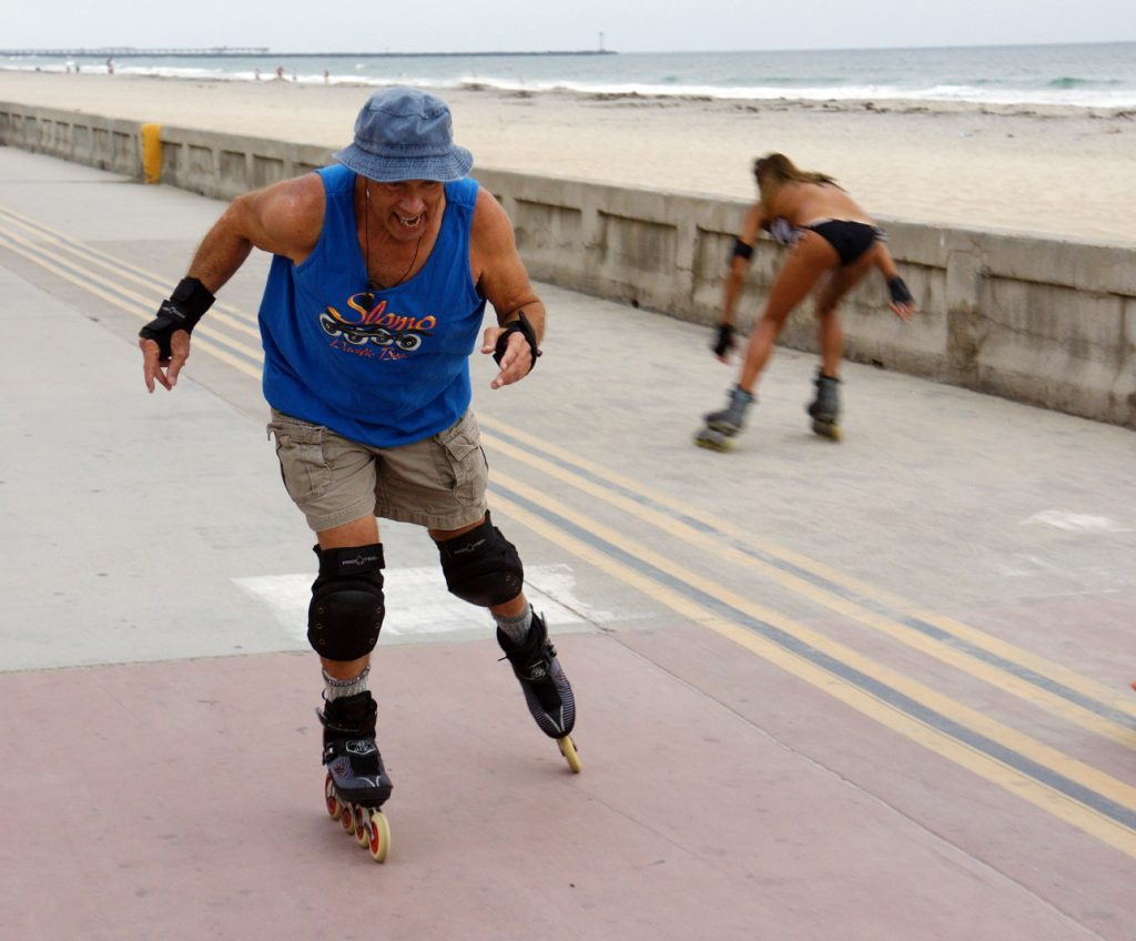 Skate in slow motion.