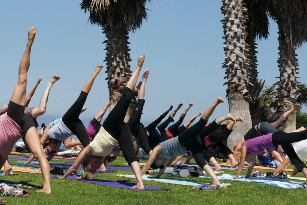Yoga on the beach.