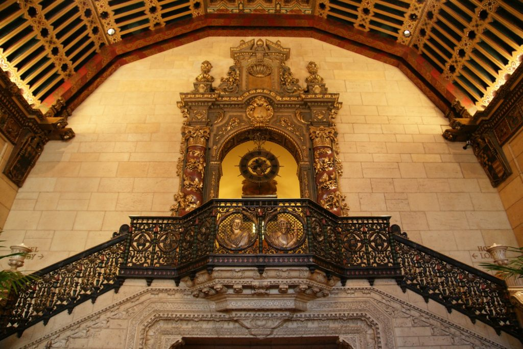 The adornment at the top of the Rendezvous Court stairway.