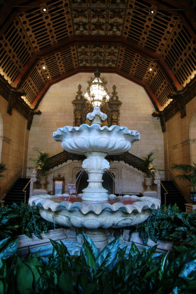 The fountain in the Rendezvous Court.