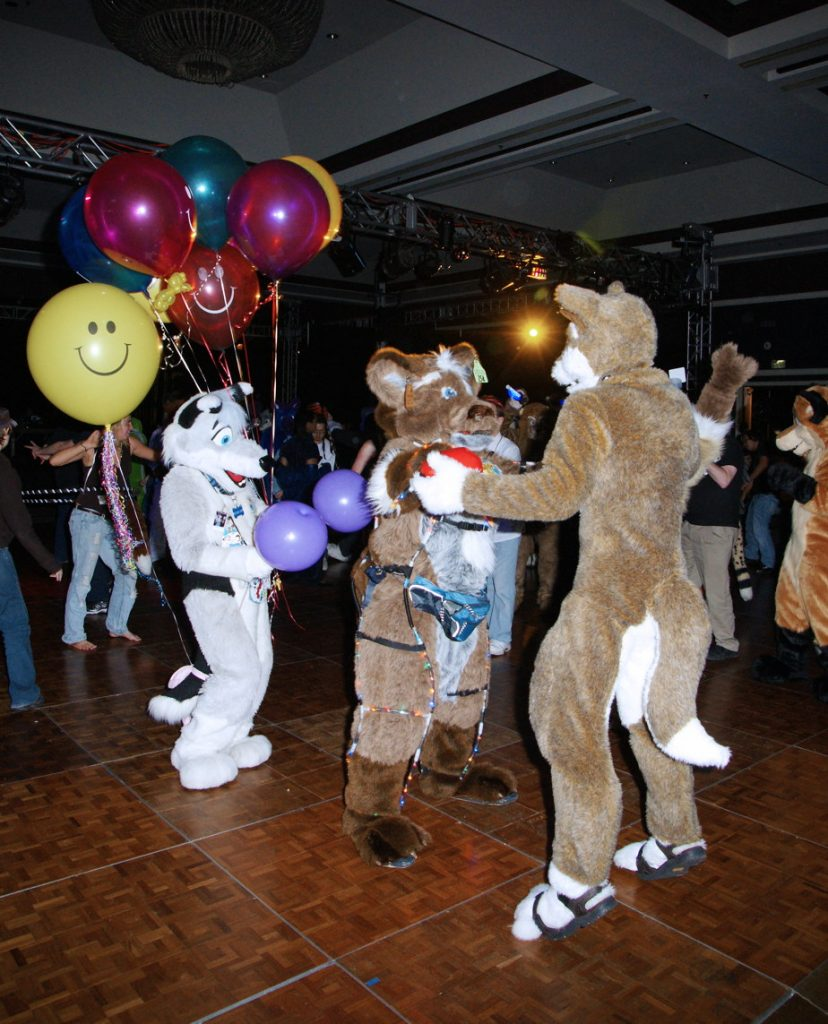 Furs dancing at the Furball.