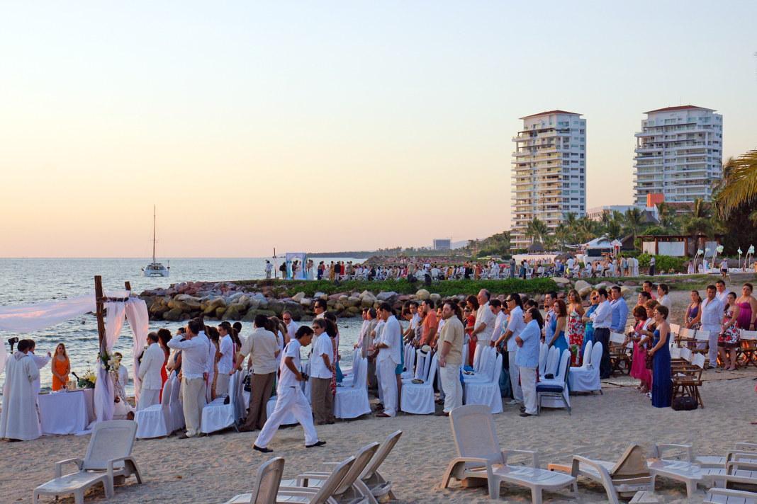 A beach wedding, Puerto Vallarta style.