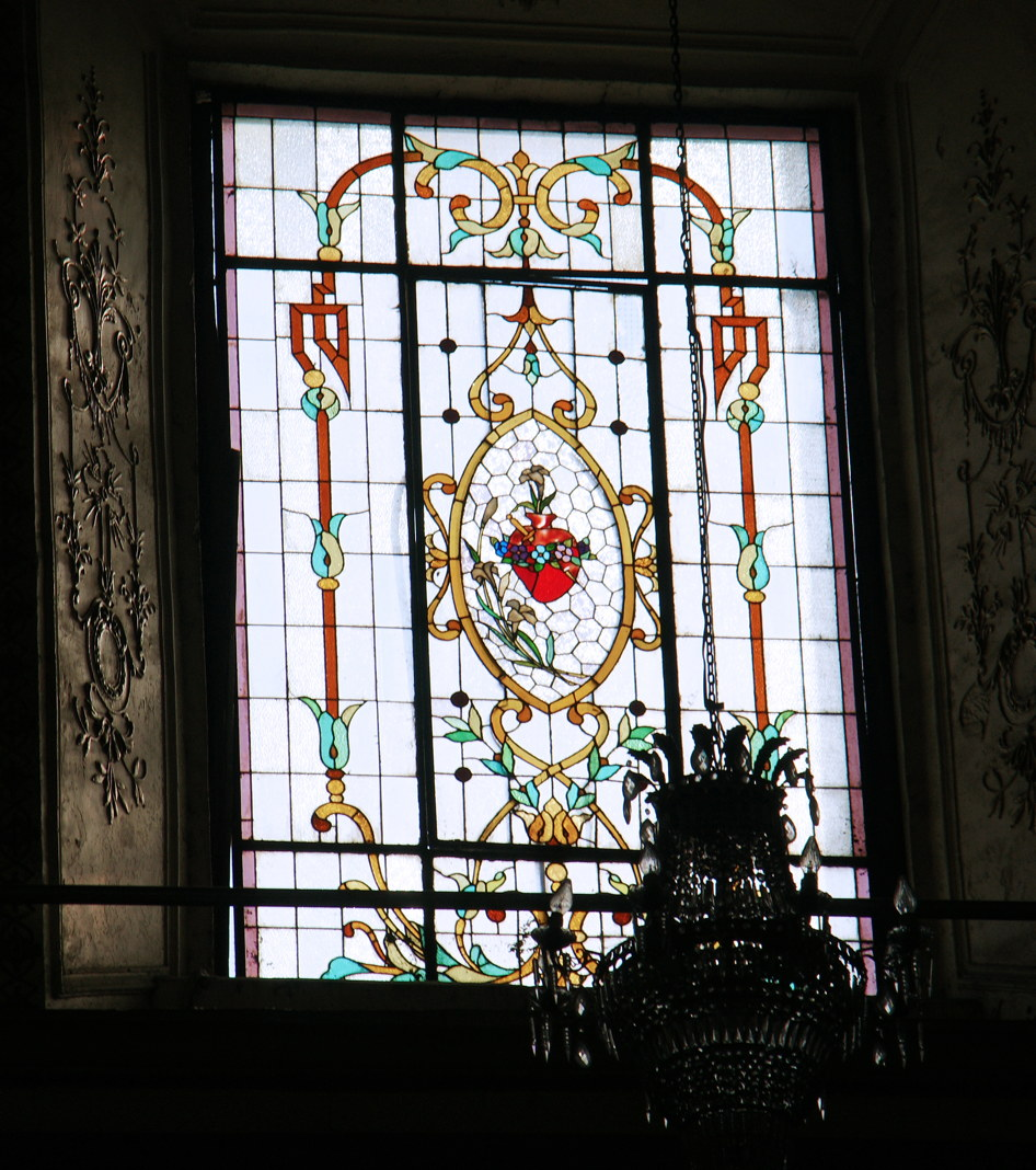 A lovely stained glass window.