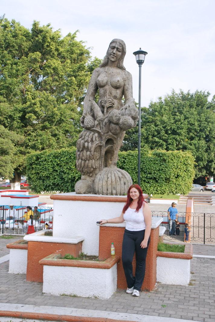 A fertility statue in the Parque la Loma in Tepic, Mexico.