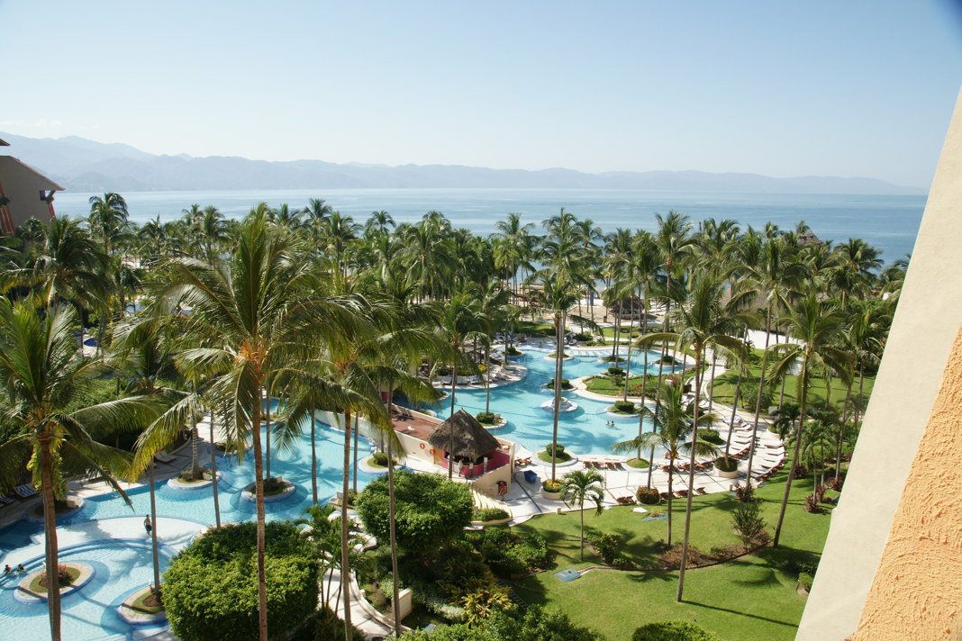 Our view from the Westin Puerto Vallarta, overlooking the Pacific Ocean.