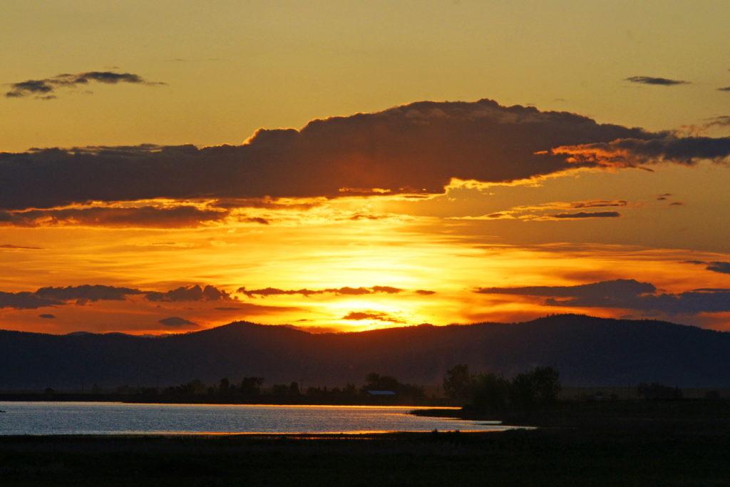 The Montana sunset is stunning.