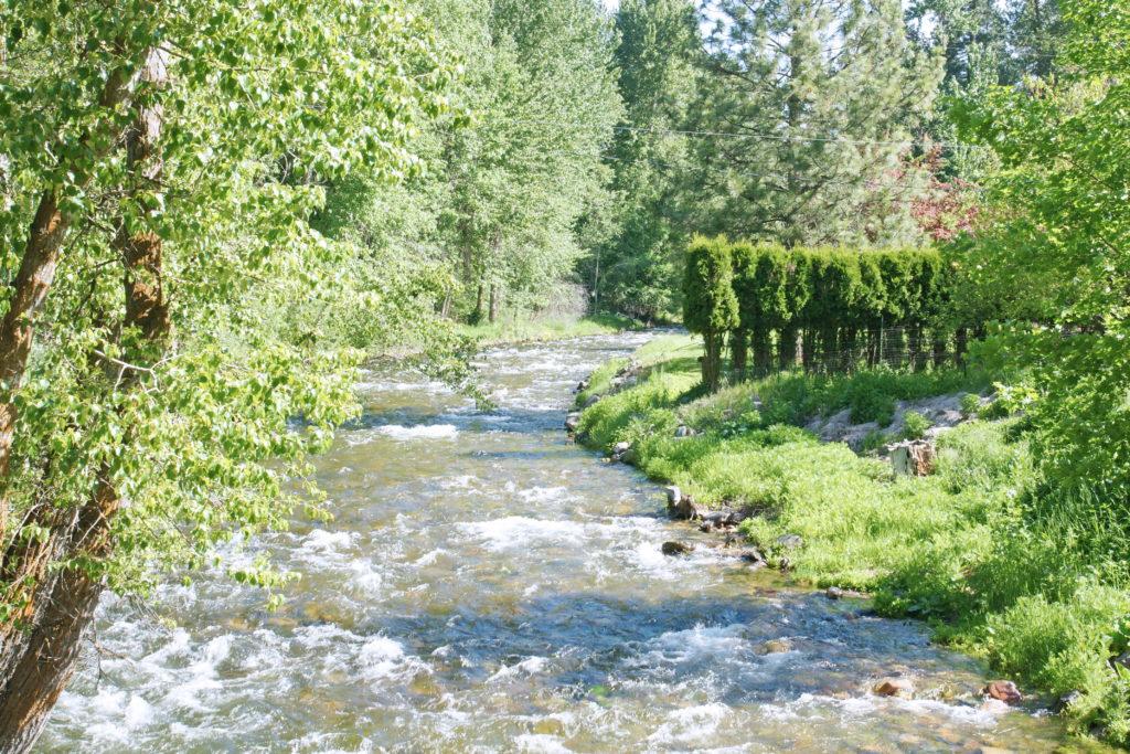 The Clark Fork river running through Greenough park in Missoula.