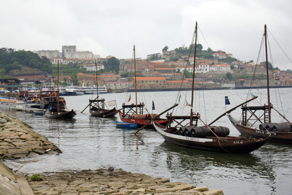 Boats on the Douro River.