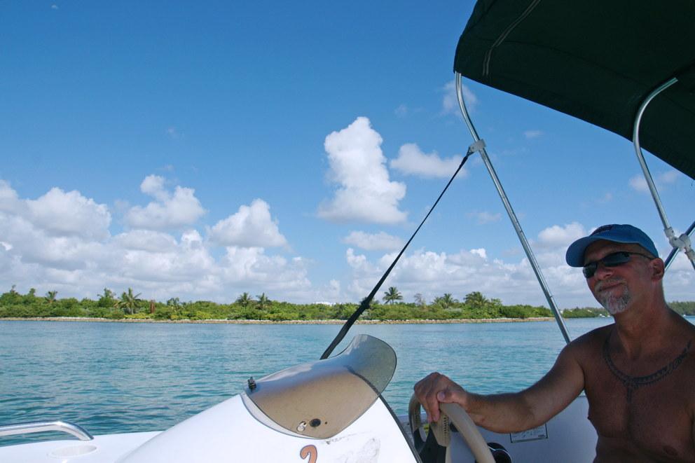Cruising the bay.
