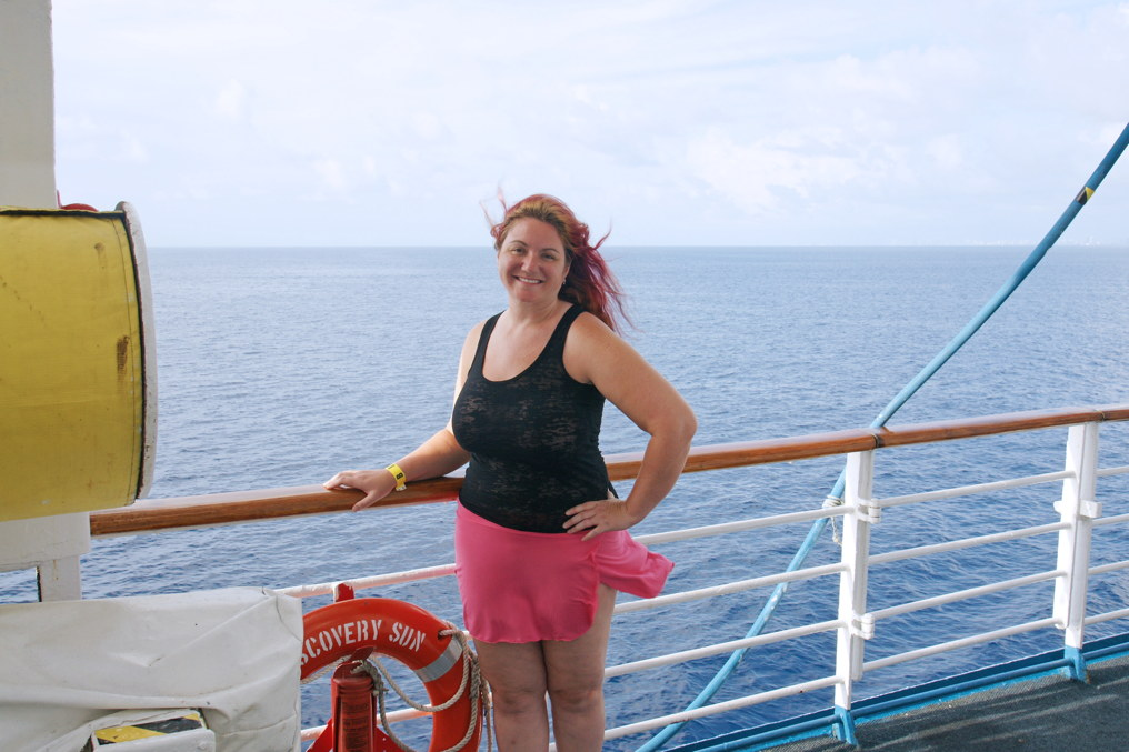 Aboard the Discovery Sun cruise ship.