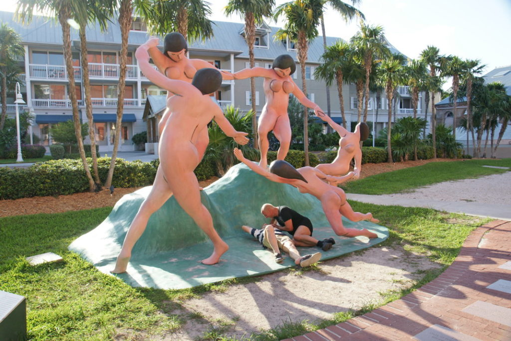 Daydreaming sculpture at the Key West Museum of Art & History at the Custom House.