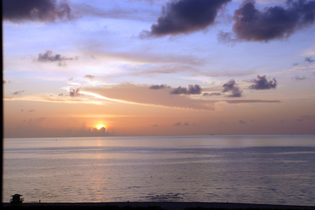A beautiful sunrise over the ocean.