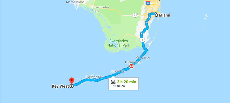 We're off on the road to Key West!