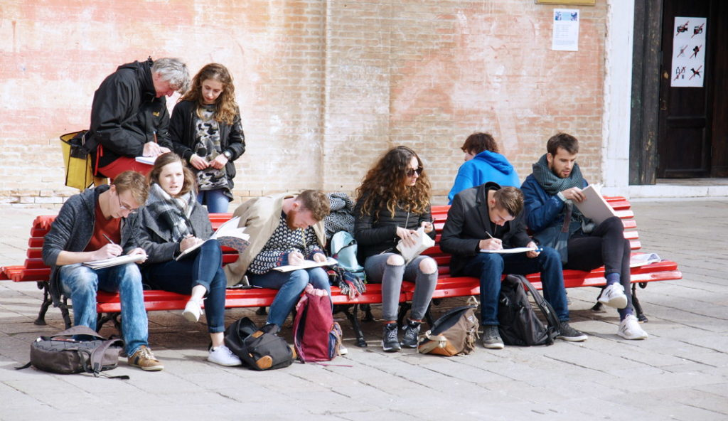 Artists-In-Training in Venice.