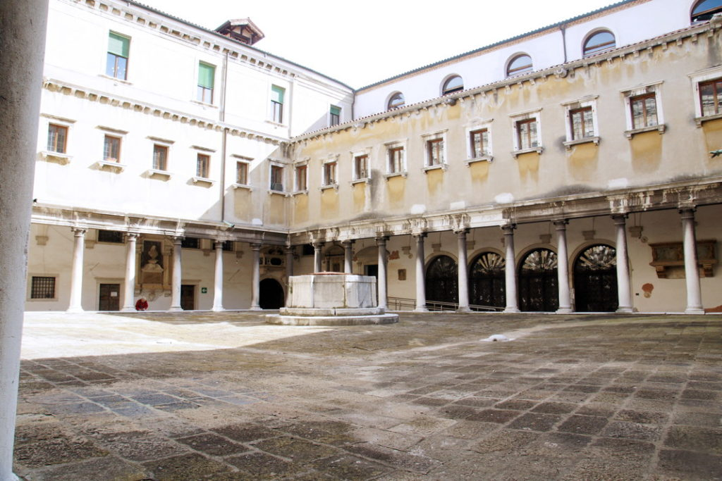 The courtyard near our hotel.