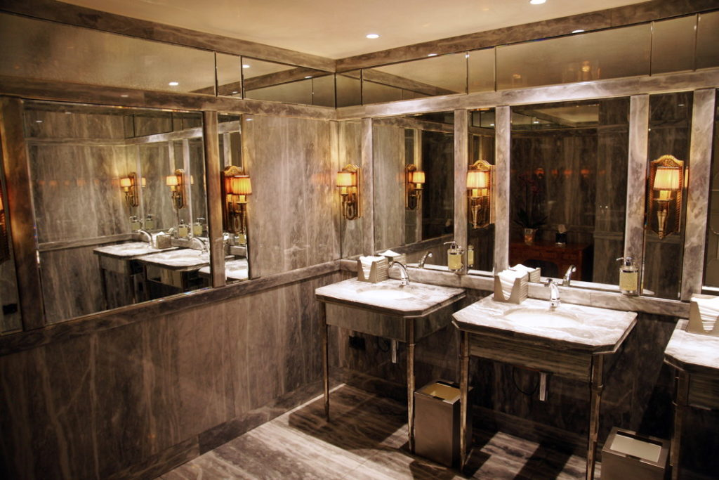 The men's room at the Hotel Gritti Palace in Venice.