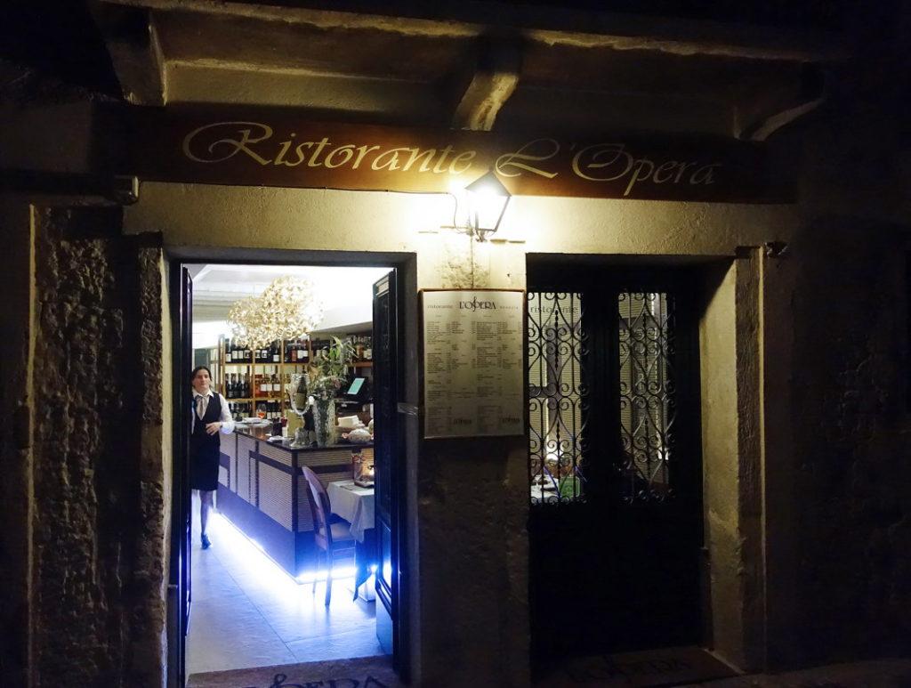 Ristorante L'Opera in Venice, Italy.