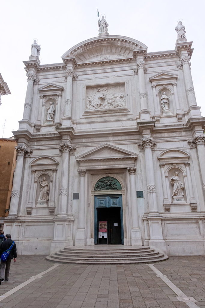 The Scuola Grande di San Rocco, noted for its collection of paintings by Tintoretto.