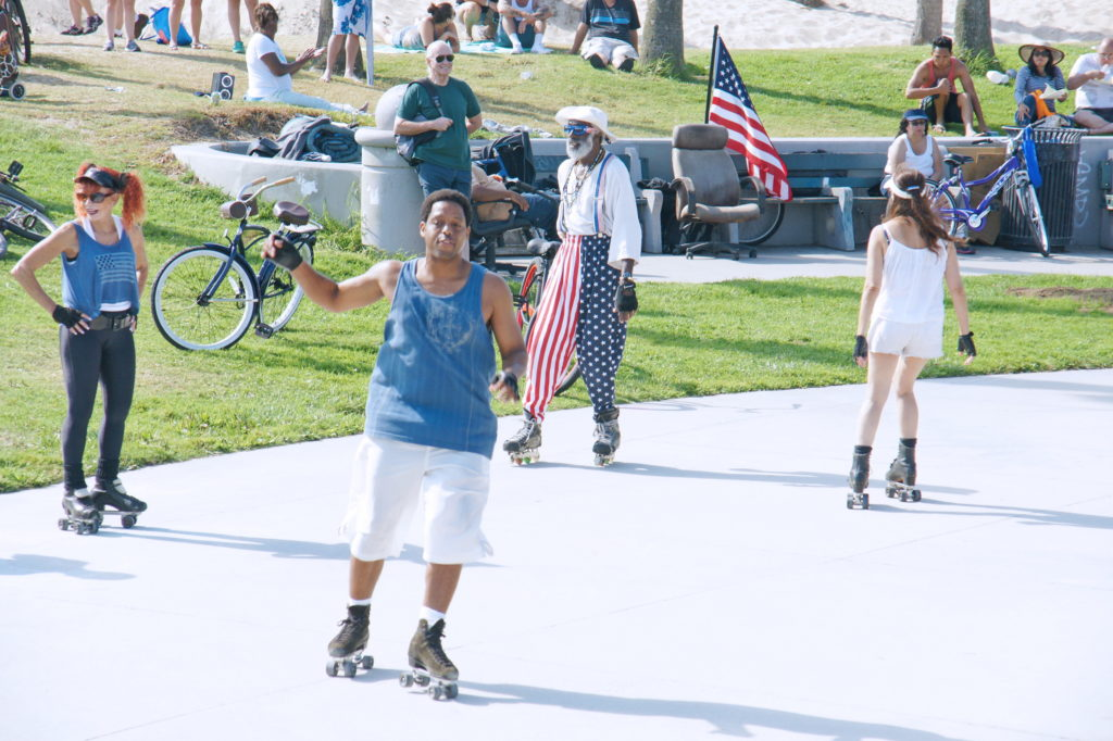 Roller skaters at Venice Beach.