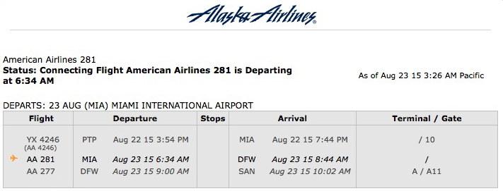 Return flights.