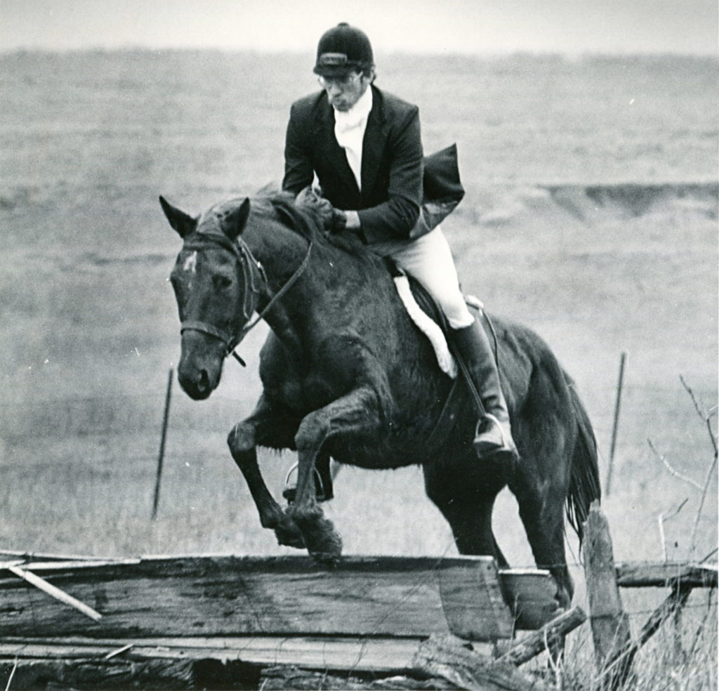 Yours truly riding Samantha. You can see that I am still working on my form.