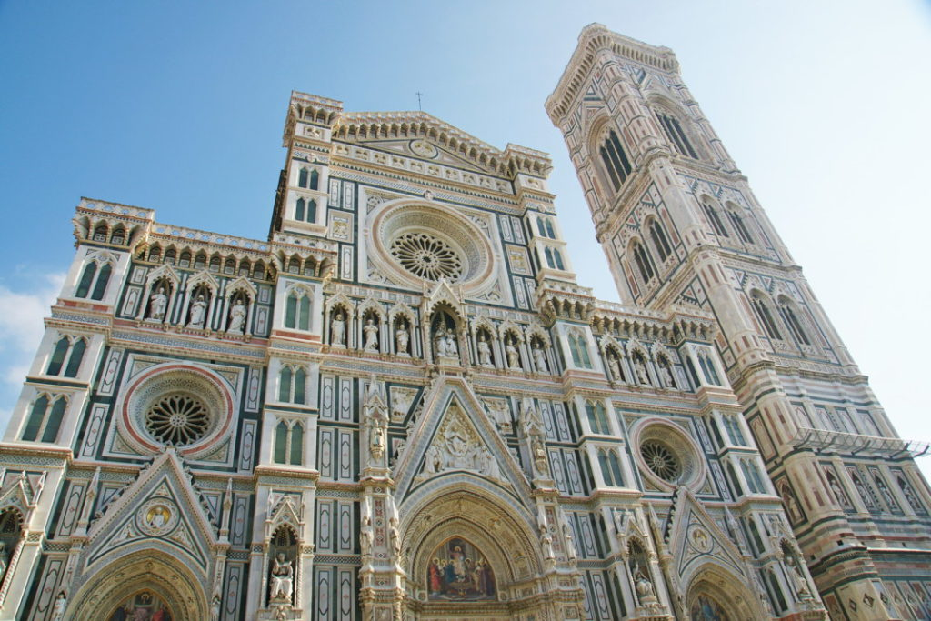 The Cattedrale di Santa Maria del Fiore. Note the attention to detail on the façade.