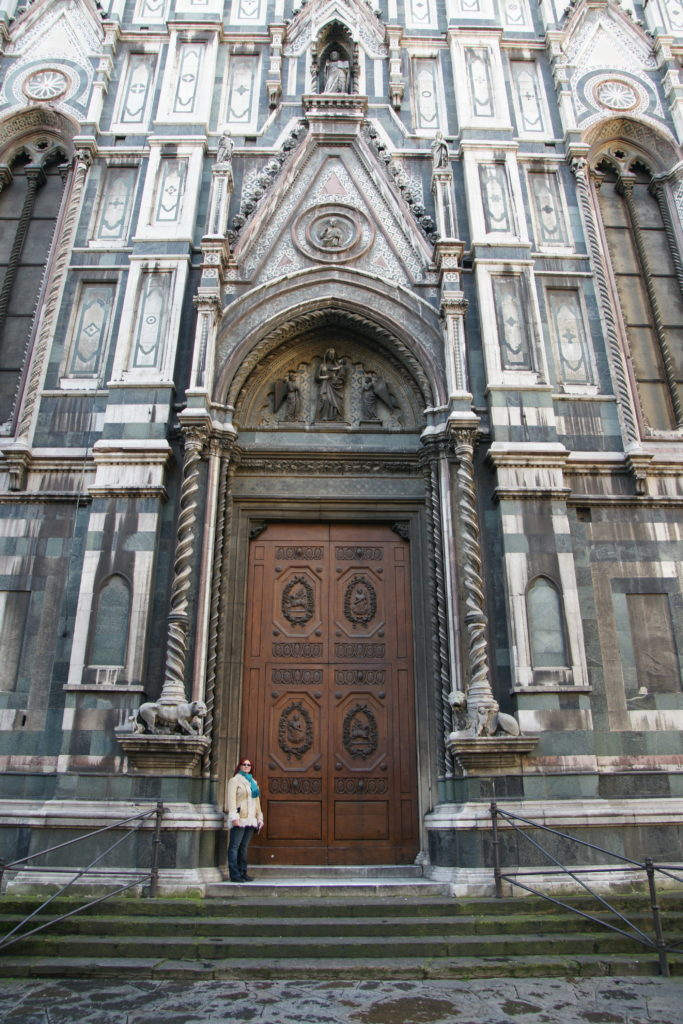The door of the cathedral. Rather than being built to accommodate giants, we suspect it was built to impress people with the majesty of the structure.