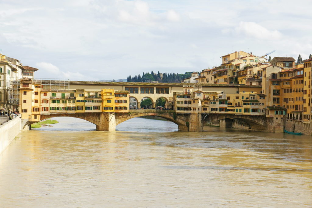 Ponte Vecchio, the oldest bridge in Florence.