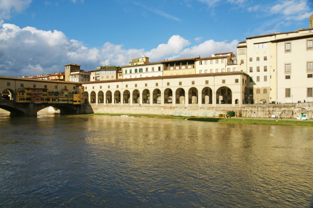 Colonnade near Ponte Vecchio, part of the Corridoio Vasariano.