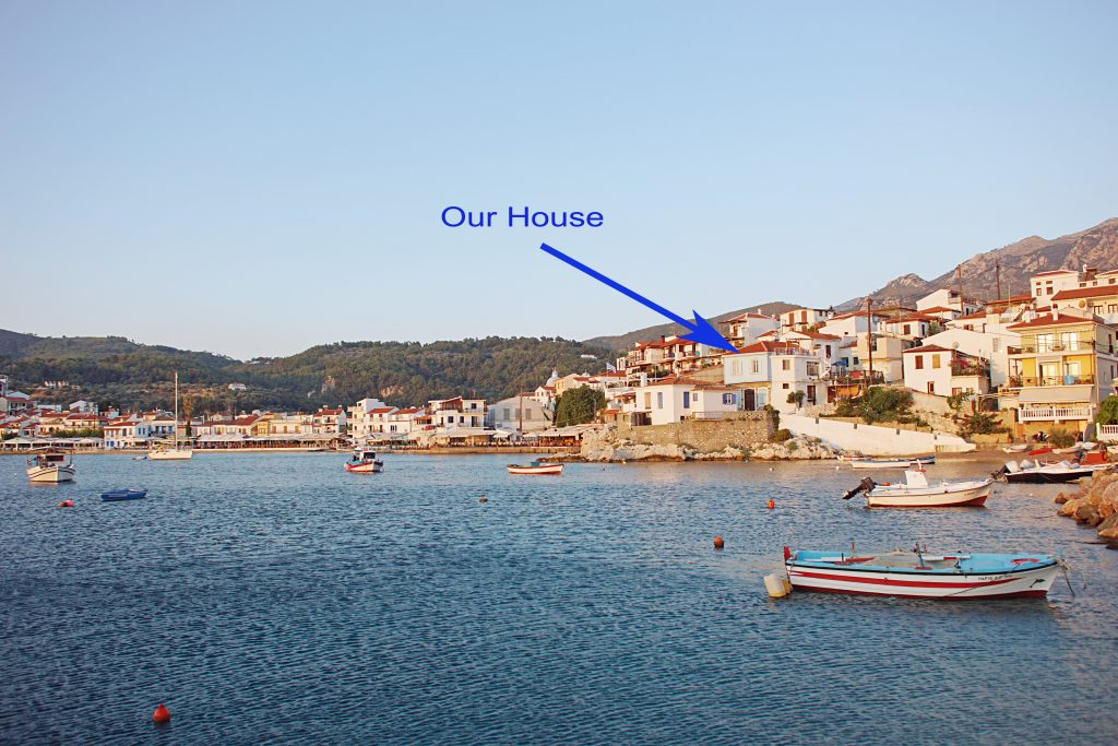 Samos Traditional House, with a view of the bay.
