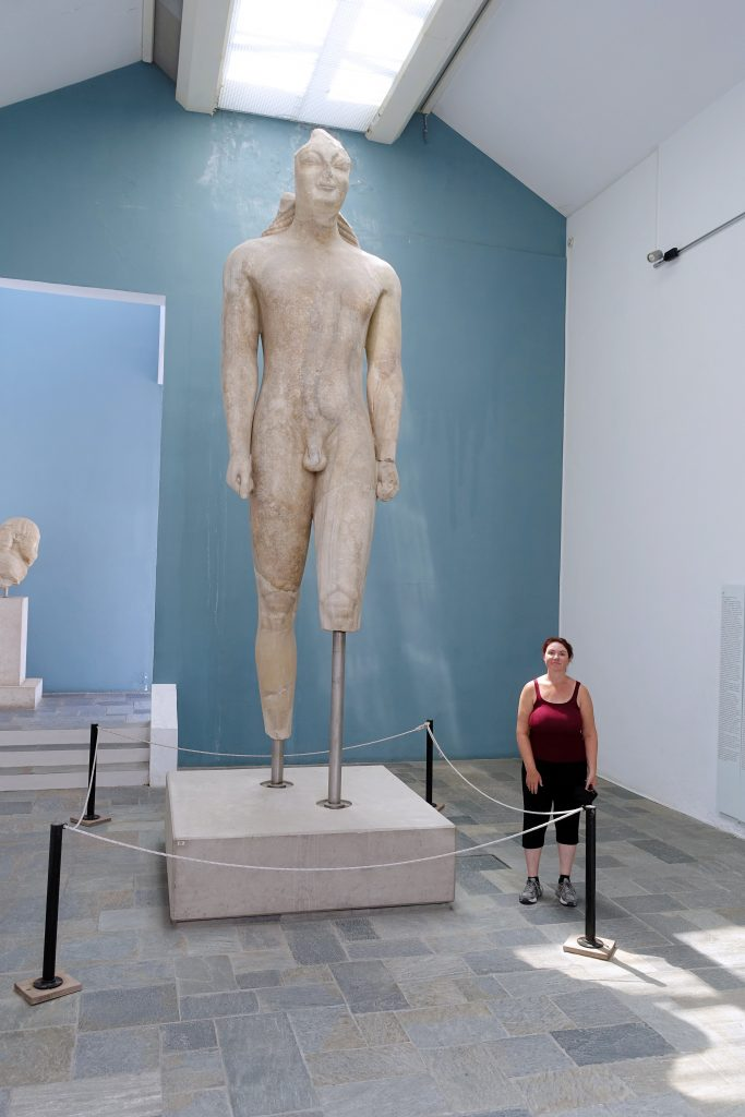 Kouros of Samos stands 5.25 metres tall.