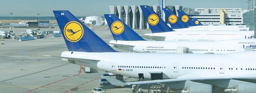 Frankfurt is Lufthansa's hub, and Lufthansa has a fleet of thirty-one 747s.