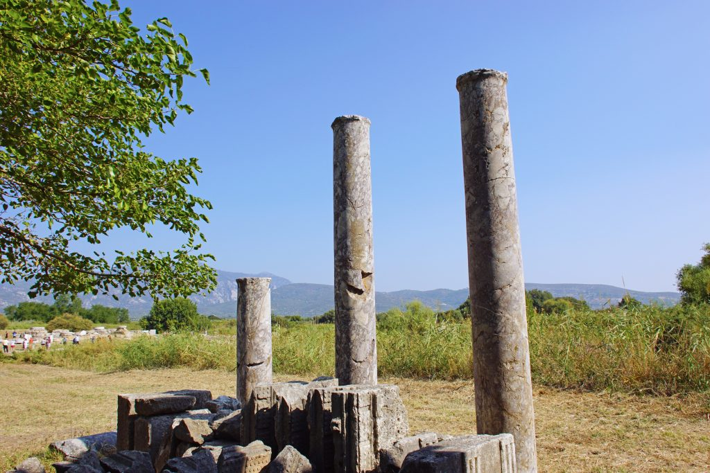 Another example of the pillars found at the site.
