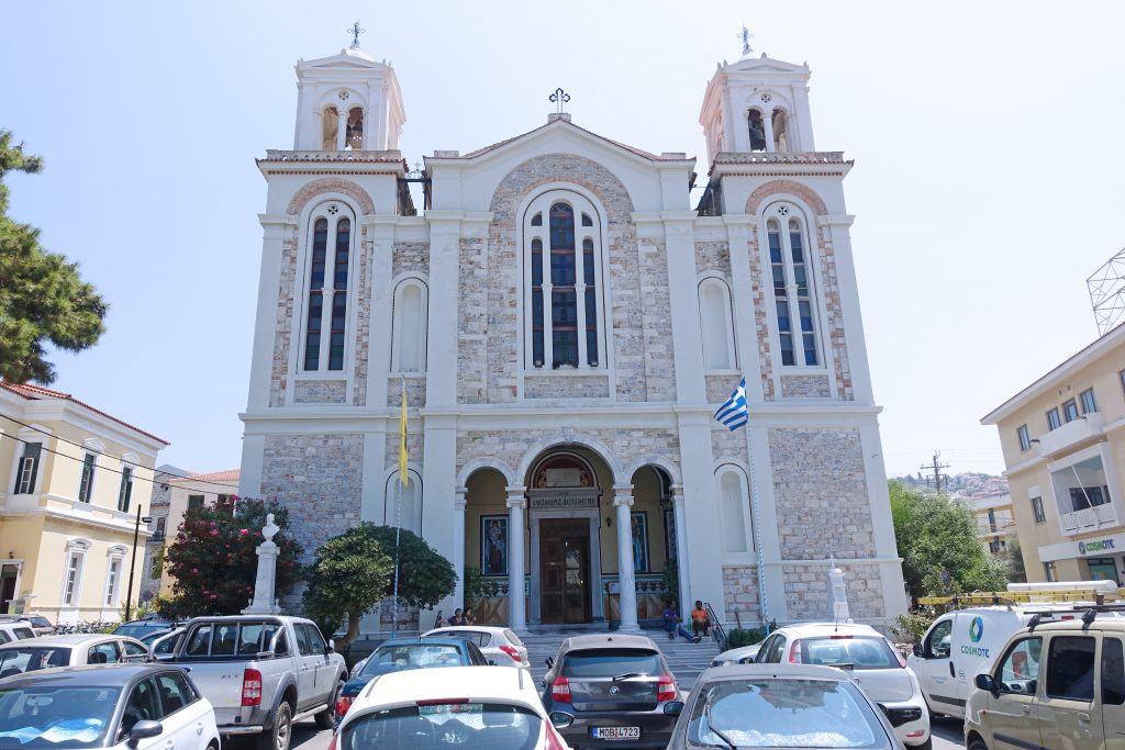 Saint Spyridon Church, a symbol of the union of Samos with Greece.