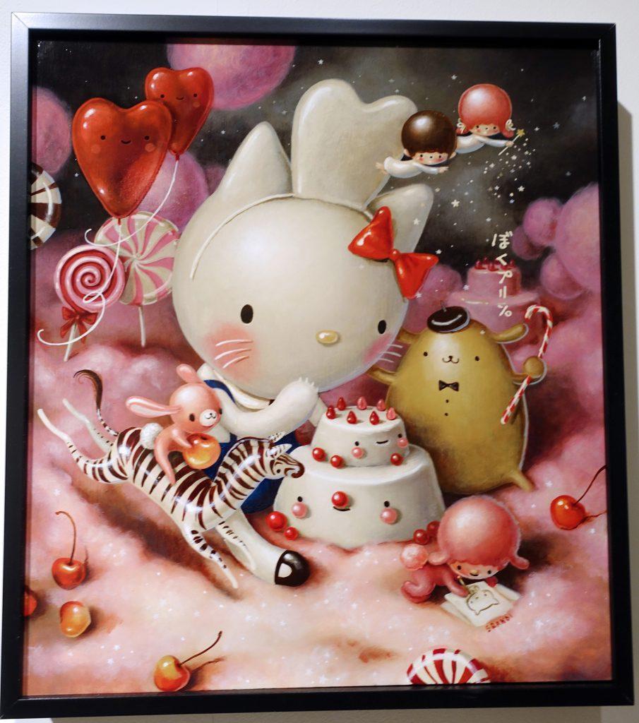 Hello Kitty loves to eat cakes!