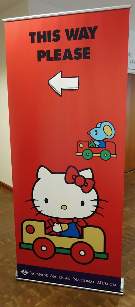 Hello Kitty and friend lead the way.